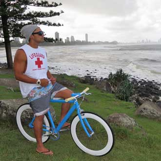 Nothing fast just cruising and checking out the surf - Burleigh Heads Queensland